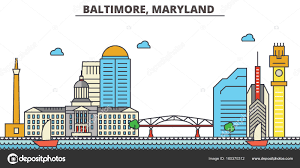 baltimore maryland city skyline architecture buildings streets