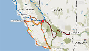 Road Trip Map Road Trips To Yosemite National Park My Yosemite Park