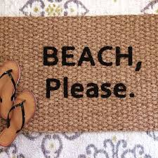 beach please doormat fun and funny welcome mats for the hip
