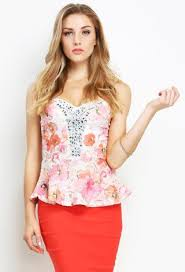 strapless blouse floral strapless top shop knit tops at papaya clothing