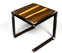 Metal And Wood End Table  Custom Furniture And Leather Goods - Custom furniture austin
