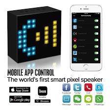 amazon com divoom aurabox bluetooth 4 0 smart led speaker with