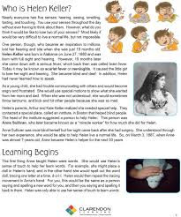 How Old Was Helen Keller When She Became Blind Helen Keller Lesson Plan Clarendon Learning