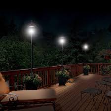 gama sonic solar lights gama sonic baytown solar l post with planter walmart com