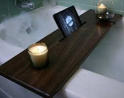 Bathtub Book Tray Wood Bath Caddy Etsy