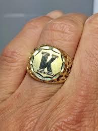 mens monogram ring signet rings rings jewelry