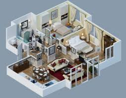 3d apartment design 10 awesome two bedroom apartment 3d floor