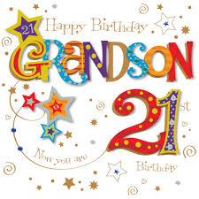 grandson 21st birthday greeting card cards love kates