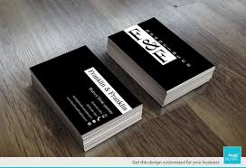 business card template for modern black and white order custom