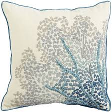 living room pillows coastal embroidered sea fan pillow pier 1