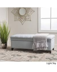 spectacular deal on hastings tufted fabric storage ottoman bench