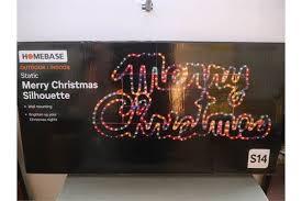 homebase outdoor indoor static merry christmas silhouette light