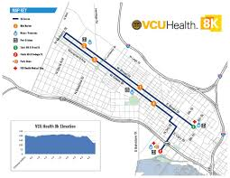 Map Of Richmond Virginia by Anthem Richmond Marathon Course Maps