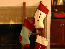 Diy Stocking Gift Card Holder Love U0026 Renovations Ladder For Christmas Stocking Display Hgtv