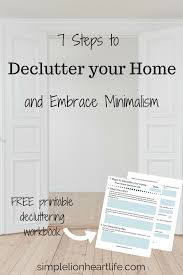 7 steps to declutter your home and embrace minimalism declutter