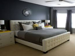 Black White And Grey Bedroom by Bedroom Modern Gray And White Bedroom With Leather Coated Bed