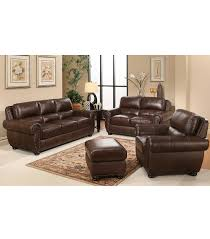 austin top grain leather sectional with ottoman living room sets austin 4 piece leather set
