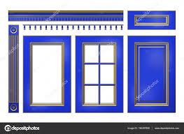 corniche pour cuisine bleu avec porte d or tiroir colonne corniche pour armoires de