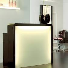 Grey Reception Desk Bridge Black Grey Reception Desk For Hairdresser Maletti