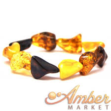 natural amber bracelet images Natural shapes baltic amber bracelet JPG