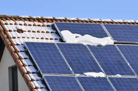 solar panels on roof how do solar panels perform during winter ecomark solar