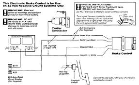 typical vehicle trailer brake wiring diagram