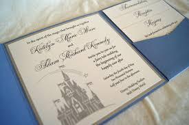 fairytale castle pocketfold wedding invitation sample