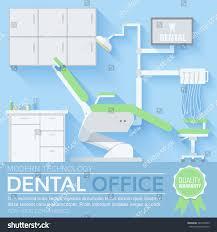 flat dentist office illustration design background stock vector
