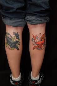 bird tattoo on arm birds on calf bayside tattoo traverse city tattoo shop