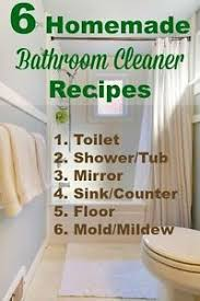 How To Make Your Own Bathroom Cleaner Best 25 Homemade Bathroom Cleaner Ideas On Pinterest Diy