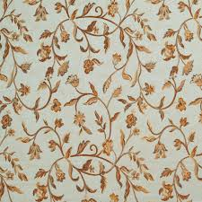 ivory upholstery fabric a0011a light blue gold brown and ivory floral upholstery fabric