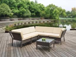 Sofa And Table Set by Li Lo Leisure Monroe Corner Set 6 Pieces Amazon Co Uk Garden