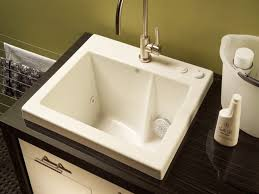 free standing laundry sink utility tub faucet metal laundry tub