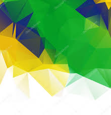 Geometric Flag Brazil Flag Vector Geometric Background Pattern Concept With Green