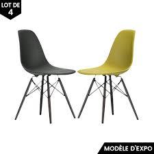chaise eames grise chaise eames dsw jaune gris lot de 4 vitra pas cher grandes