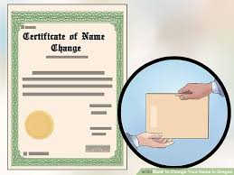 Certification Letter For Name Change How To Change Your Name In Oregon With Pictures Wikihow