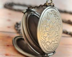 photo locket pendant necklace images Antique lockets etsy jpg