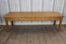 Large Victorian Pine Farmhouse Kitchen Dining Table Antiques Atlas - Victorian pine kitchen table