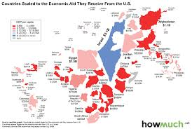 Map Of Africa With Country Names Countries Scaled To The Economic Aid They Receive From The U S