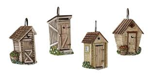 Outhouse Bathroom Accessories by Amazon Com Park Designs Outhouse Shower Curtain Hook Set Home
