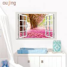 online buy wholesale abstract heaven from china abstract heaven fashion heaven 60cm 90cm 3d window cherry blossom tree art home decor wall sticker wall