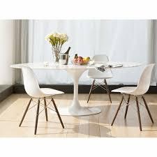 saarinen tulip oval marble dining table