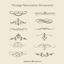 vintage decorative ornaments pack free vectors ui