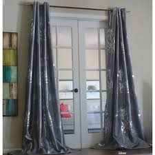 Silver And Blue Curtains Decorating Complete Your Rooms Decor With Fashionable 108 Inch