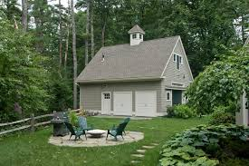 Detached Garage Pictures by Manchester Detached Garage Plans Shed Farmhouse With Gray Shingle