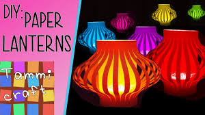 how to make colorful paper lanterns easy to follow tutorial