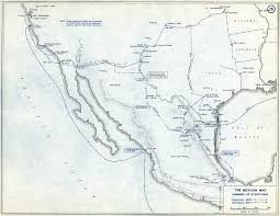 Old Map Of Mexico by Department Of History Mexican War