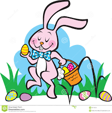 hopping bunny here comes the easter bunny stock images image 9173134