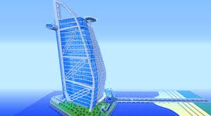 Burj Al Arab by Burj Al Arab 7 Star Hotel Minecraft Youtube