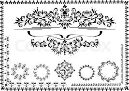 decorative ornament border frame graphic stock vector colourbox
